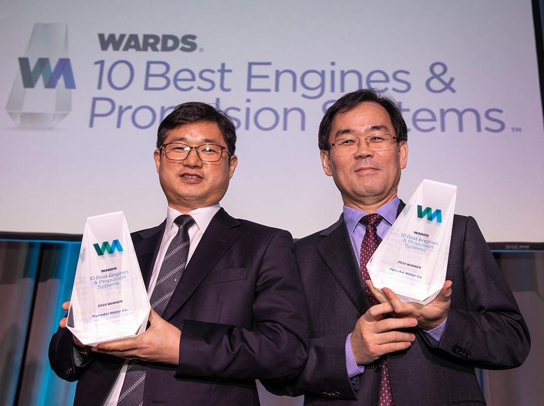 Два двигателя Hyundai получили награды рейтингаWards 10 Best Engines